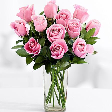 Long Stemmed Pink Bash Roses SendFlowers To Pakistan