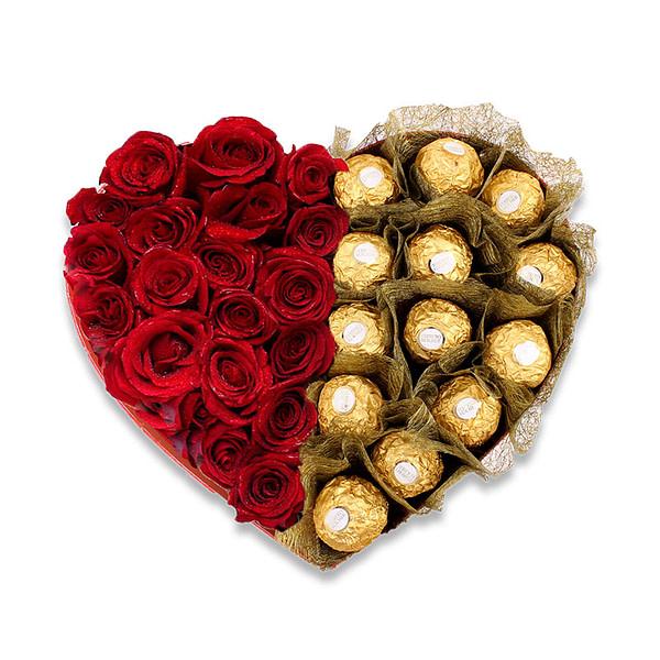 Ferrero Red Heart - SendFlowers.PK