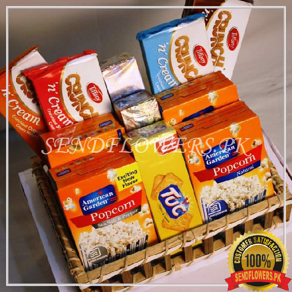 Munching Goodies Basket - SendFlowers.pk