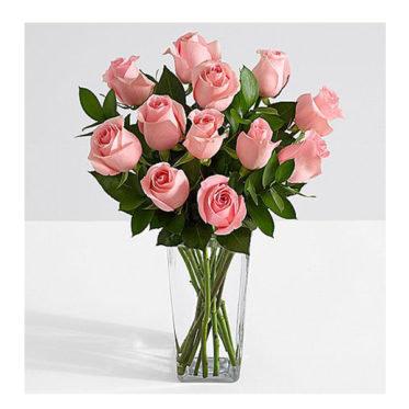 Ten Long Stemmed Pink Roses SendFlower To Pakistan
