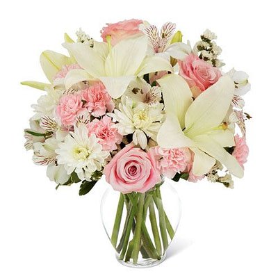 White Lily Bouquet of Elegance - SendFlowers.pk