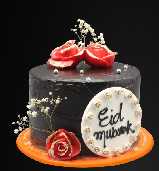 Cake with Eid Mubarak Wishes - SendFlowers.pk
