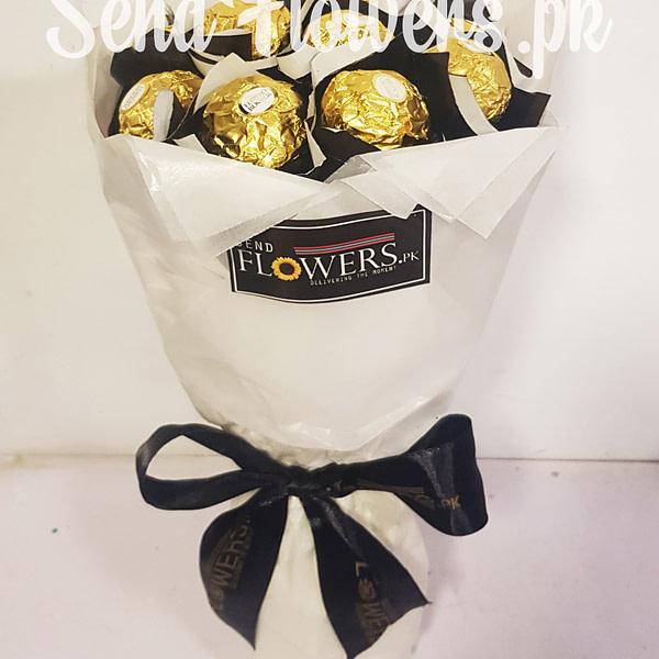 Ferrero Rochr Bouquet Delivery Pakistan_sendflowers.pk