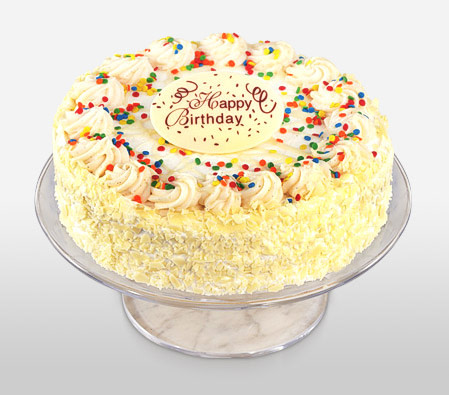 Delivery of Vanilla Special Birthday Cake in Pakistan