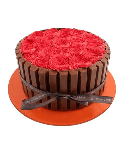 Rose Kit-Kat Cake 3LBS - Online Delivery in Lahore