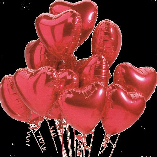 12 Heart Shape Helium Balloons - sendflowers.pk