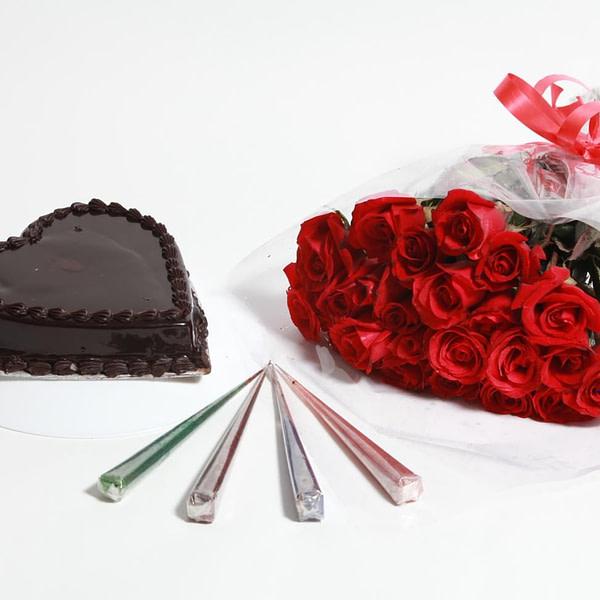Rose with Chocky Cake - SendFlowers.PK