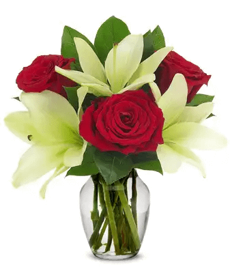 Venture Rose Lily Bouquet - SendFlowers.pk