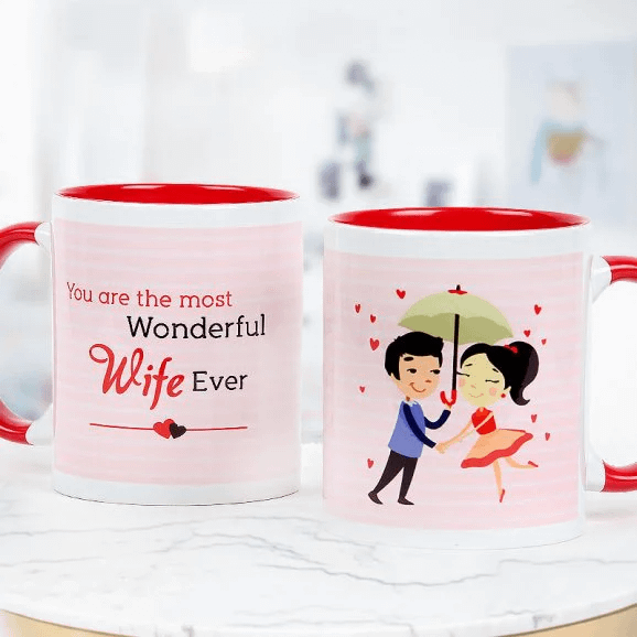 Wonderful Wife Ever Mug - Send Anniversay Mugs Lahore