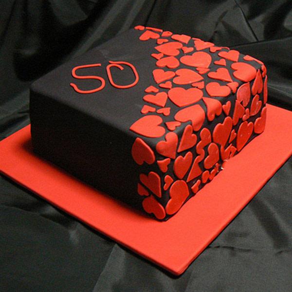 Blackish and Reddish Cake - SendFlowers.PK
