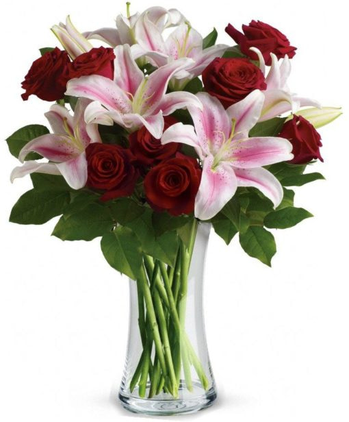 Birthday Lilies & Roses - SendFlowers.pk