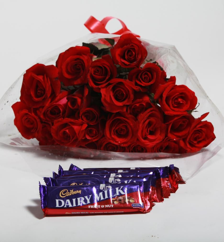 Roses with Cad-bury Bouquet - SendFlowers.PK