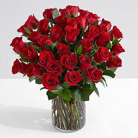 40 Long Stem Red Roses - sendflowers.pk