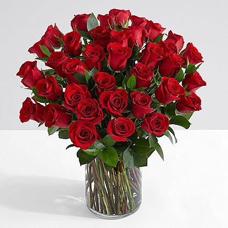 40 Long Stem Red Roses - sendflowers.pk