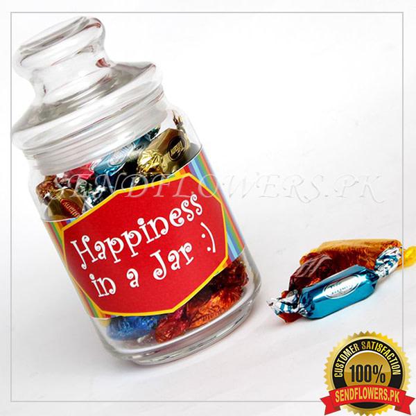 Assorted Chocos & Candies in Jar - SendFlowers.pk