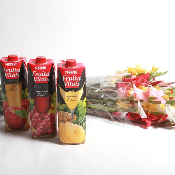 Mix Glads with Juices - SendFlowers.PK