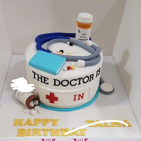 Delivery of Happy Birthday Dr. Cake in Pakistan