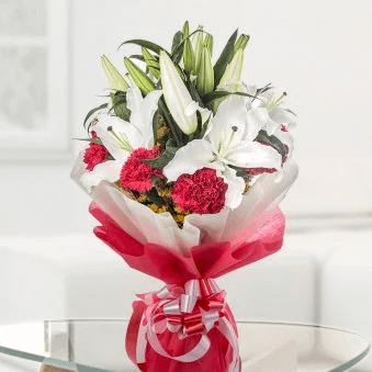 Lily And Carnation - SendFlowers.pk